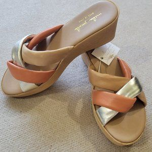 New Mila Paoli Made in Italy Wedge Sandal Size 8